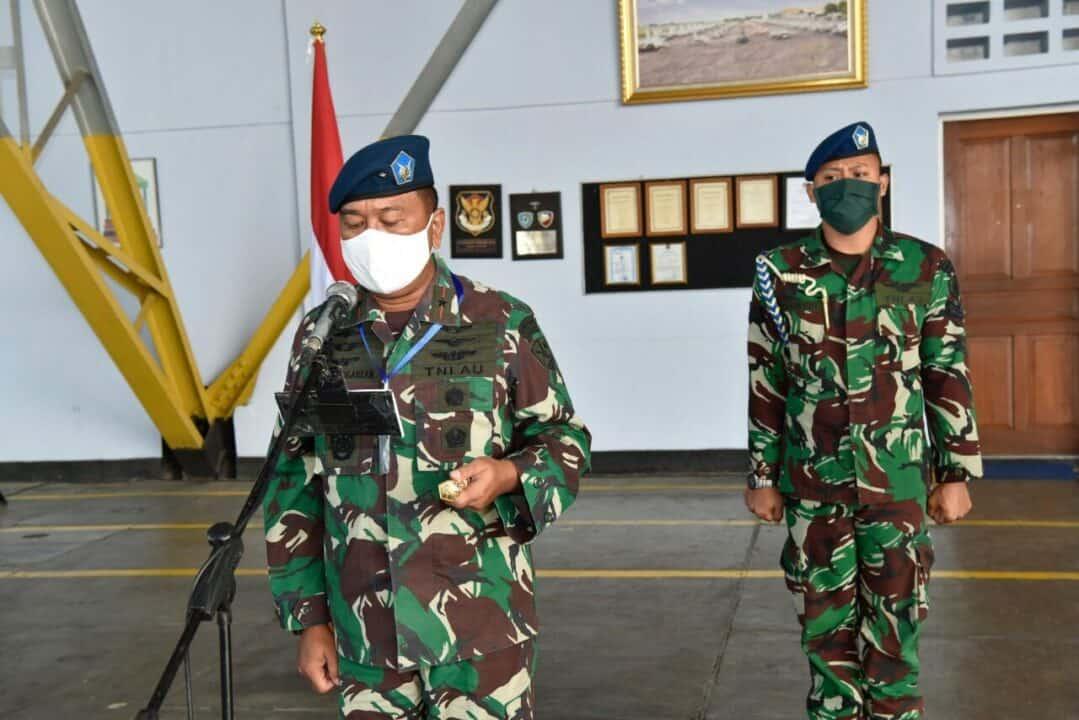Upacara penutupan Latihan Kerja Teknisi Pesawat G-120 TP-A Grob bagi Bintara Angkatan 42 di Lanud Adisutjipto