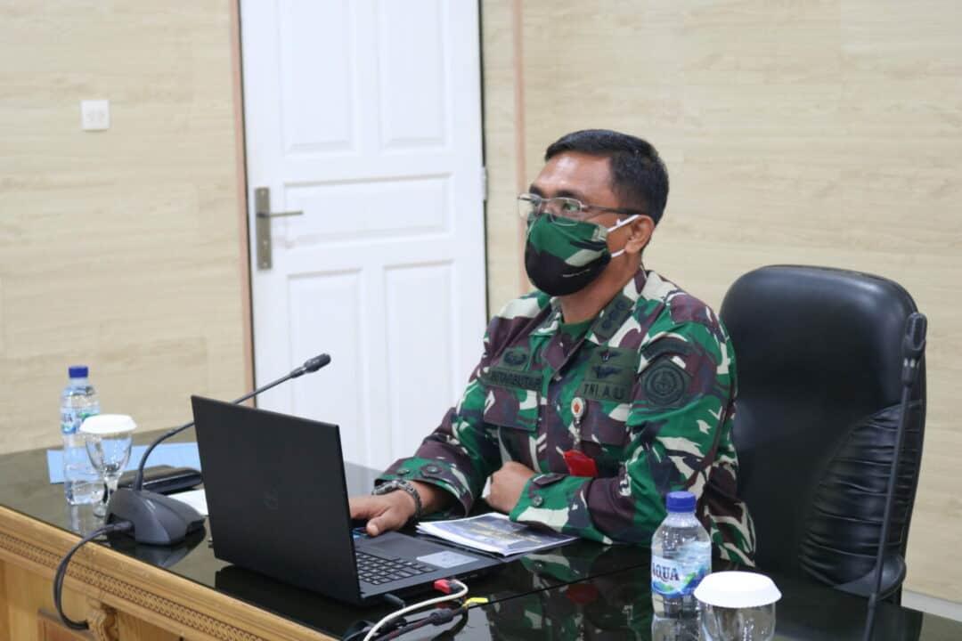 Pasis Dikreg Seskoal Angkatan Ke-58 Terima Pembekalan Dari Kosekhanudnas III Via Vicon