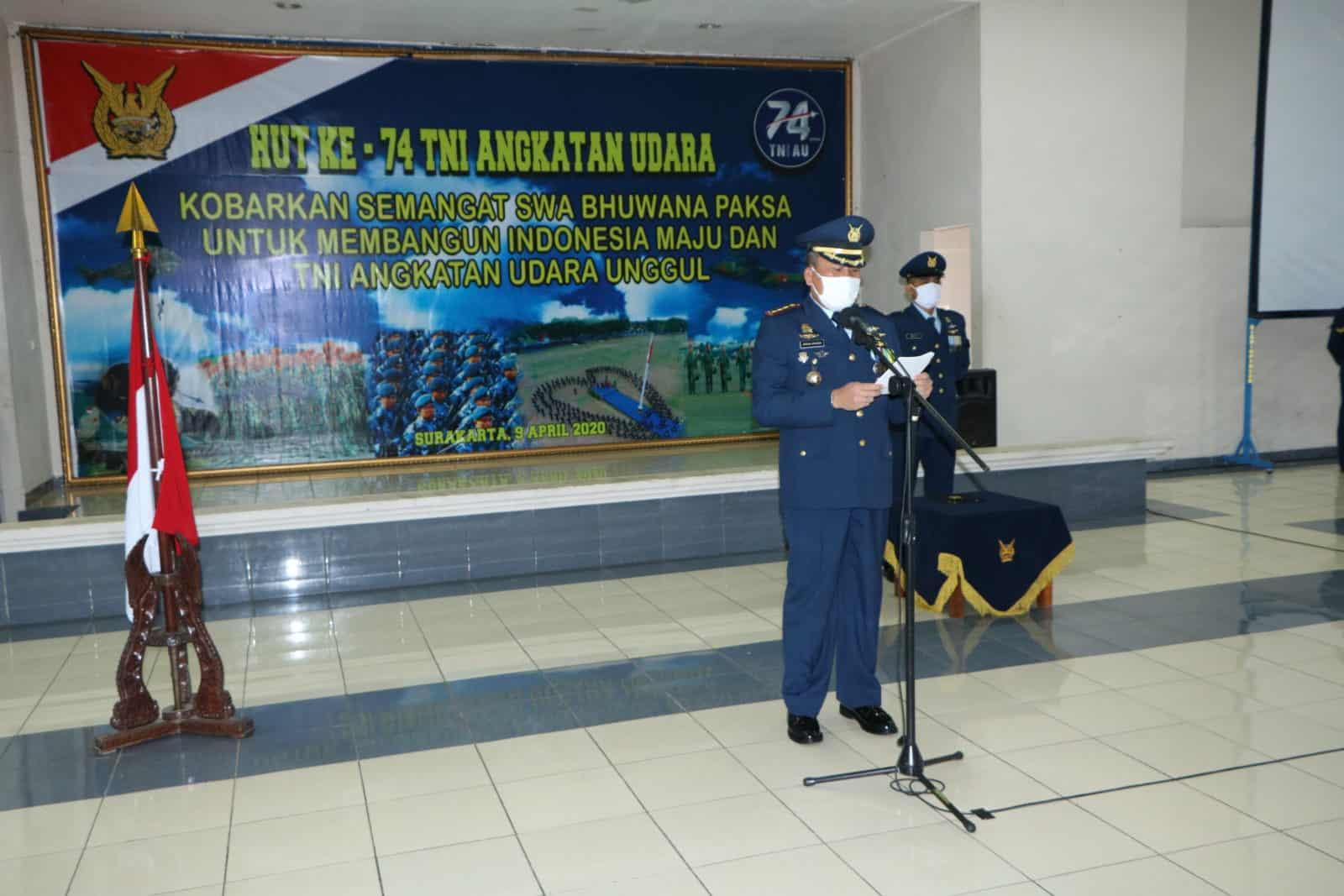 """Kasau : """"Kobarkan semangat Swa Bhuwana Paksa untuk membangun Indonesia maju dan TNI Angkatan Udara unggul""""."""