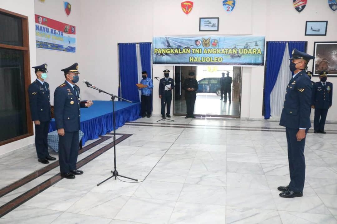 Peringatan HUT ke-74 TNI AU berlangsung sederhana di Lanud Haluoleo