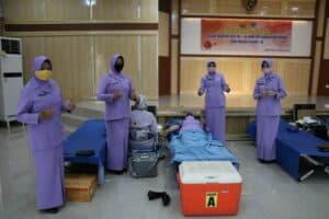 Kosekhanudnas II gelar Bakti Sosial Donor Darah Dalam Rangka Mepereingati HUT Ke – 74 TNI Angkatan Udara