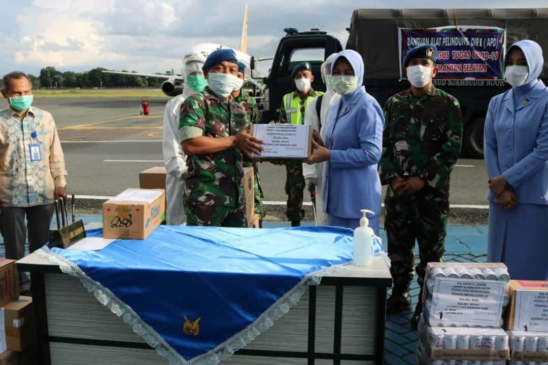 Peduli Dan Mendukung Pencegahan Covid-19 PIA Ardhya Garini Cab.11/D.II Lanud Sjamsudin Noor Berikan Bantuan Makanan Tambahan Kepada Tenaga Medis Covid-19 Kalimantan Selatan