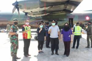 Pesawat TNI AU Angkut Bansos Kesehatan Untuk Kabupaten Mimika