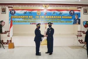 Upacara Peringatan HUT TNI AU ke-74 di Lanud BNY