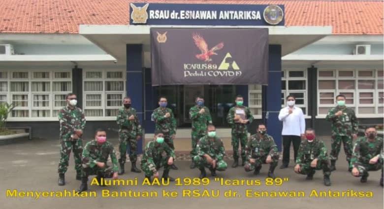 Peduli PandemiI Covid-19, ICARUS '89 Serahkan Bantuan Untuk Rumah Sakit TNI AU