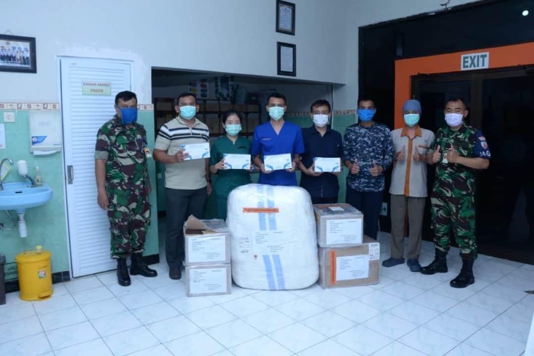 Danlanud Iswahjudi Terima Bantuan APD dari Marsekal TNI (Purn) Djoko Suyanto