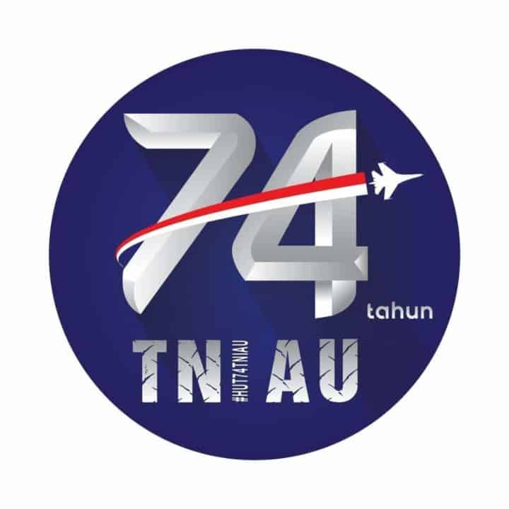 Logo HUT TNI AU ke-74