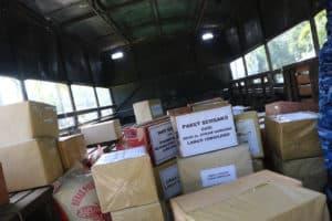 Lanud Iswahjudi, PIA AG dan Satuan Insub Salurkan Bantuan Dua Truk Sembako