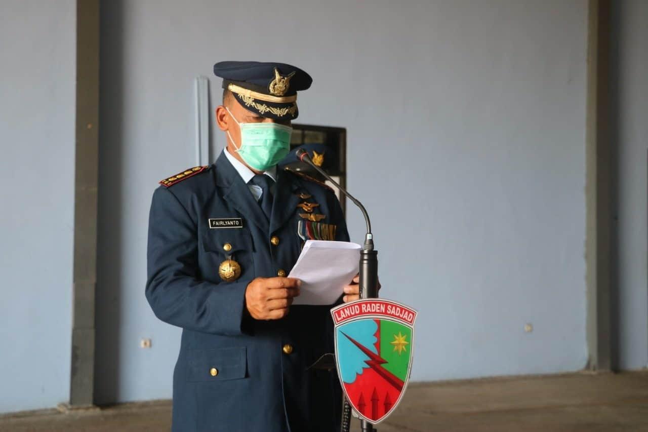 Upacara Peringatan HUT TNI AU ke-74 di Lanud Rsa digelar Sederhana