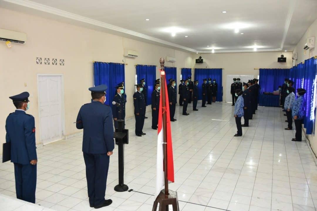 HUT ke-74 TNI AU, Lanud RHF Gelar Upacara Sangat Sederhana Namun Bermakna