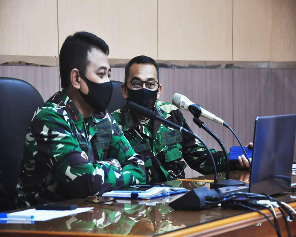 Pangkoopsau III Mengikuti Video Conference Yang Dipimpin Langsung Panglima TNI