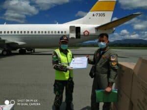 Ribuan APD Kembali Tiba di Bandara Djalaludin Gorontalo