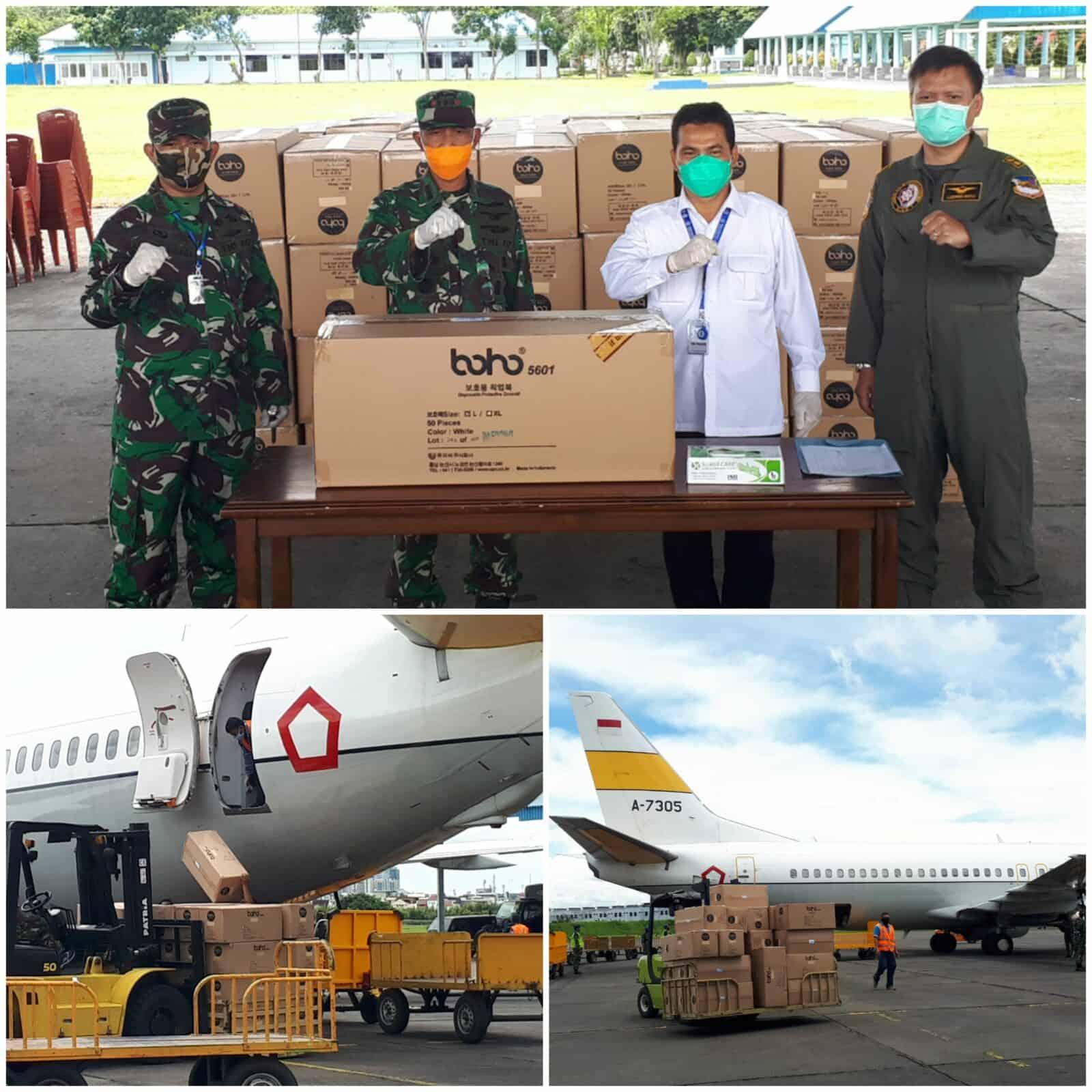 Lanud Soewondo Kembali Membantu Mendistribusikan 6.000 APD Tahap 5 Kepada Dinas Kesehatan Provinsi Sumut