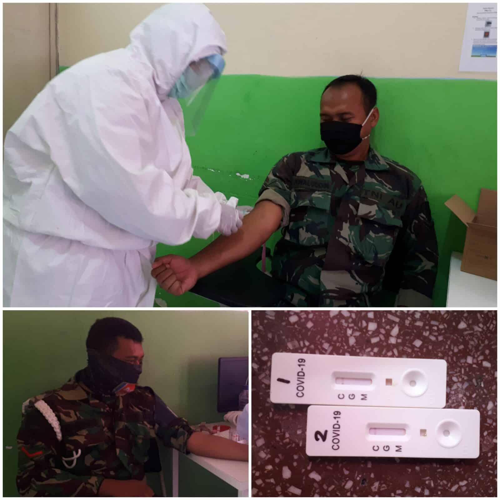 Tiga Puluh Lima Personel Lanud Soewondo Melaksanakan Rapid Test Covid-19