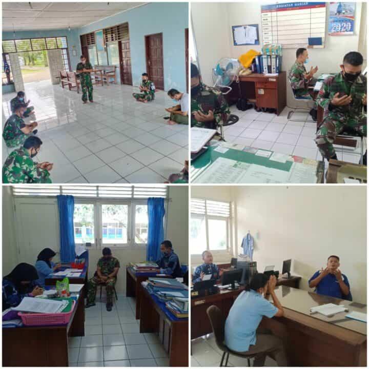 Personel Lanud Soewondo Laksanakan Gerakan Serentak Doa Bersama Hadapi Wabah Virus Covid-19