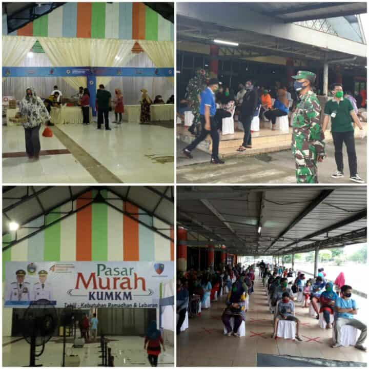Lanud Soewondo Fasilitasi Pemprovsu Selenggarakan Pasar Murah Untuk Warga Terdampak Covid 19