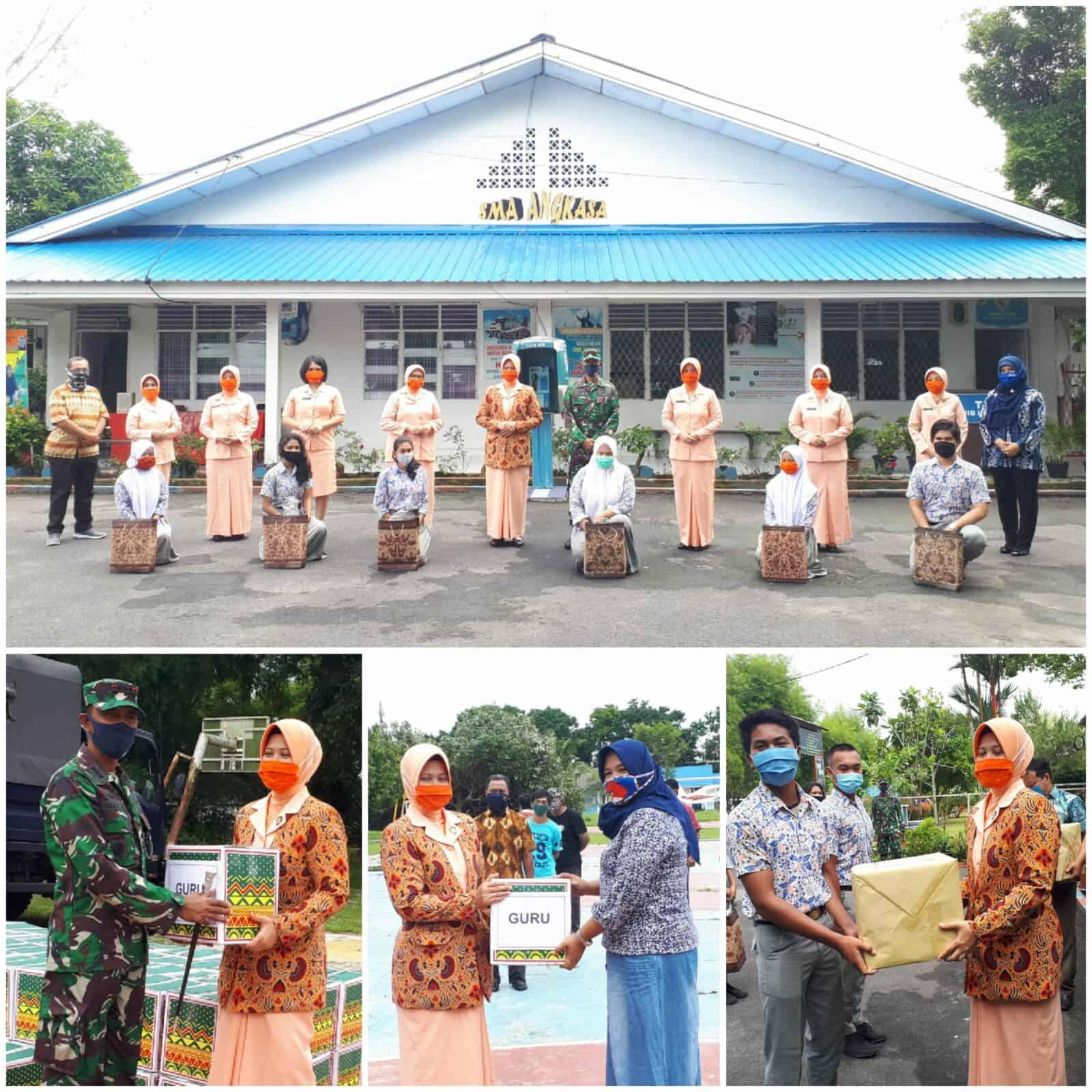 Yasarini Cabang Lanud Soewondo Bagikan Bingkisan Kepada Siswa Berprestasi, Guru dan 150 Paket Sembako Untuk Orang Tua/Wali Murid Yang Membutuhkan