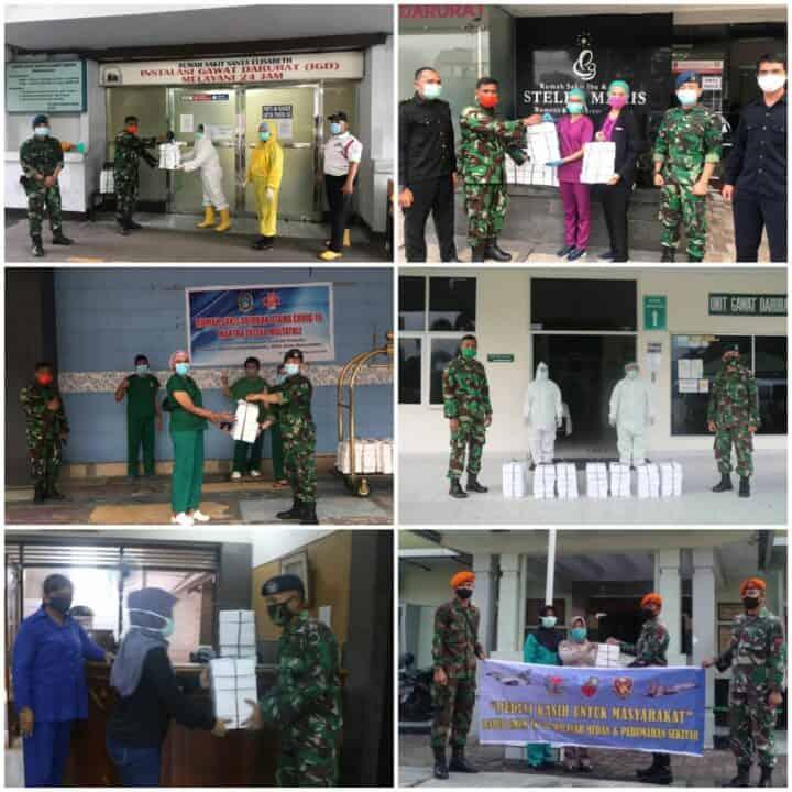 Dapur Umum TNI AU Wilayah Medan Salurkan Nasi Kotak Bagi Tenaga Medis di 13 RS Di Medan