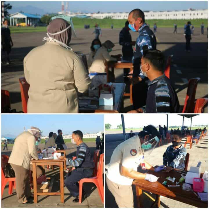 73 Personel Lanud Soewondo Kembali Melaksanakan Rapid Test Covid-19
