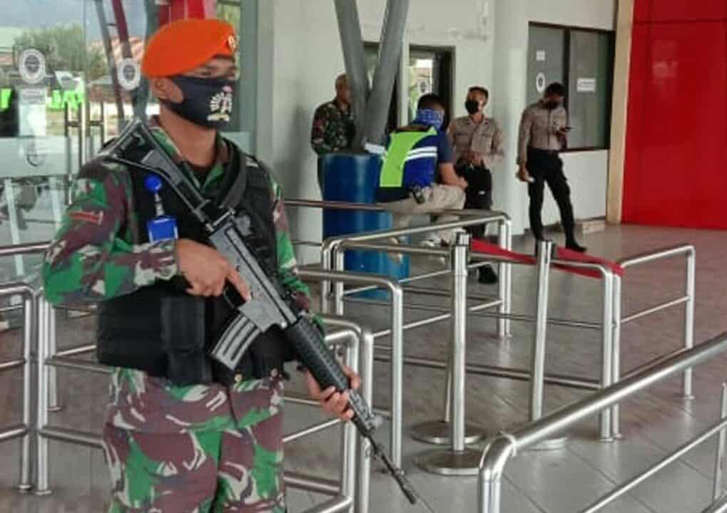 Satgas Pamrahwan Yonko 462 Paskhas Laksanakan Pengamanan Kunjungan Pangdam XVII/Cendrawasih dan Kapolda Papua ke Wamena