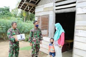 Donasi Sembako dan Edukasi Pencegahan Covid-19 oleh anggota Lanud Pangeran M. Bun Yamin Jilid 2.