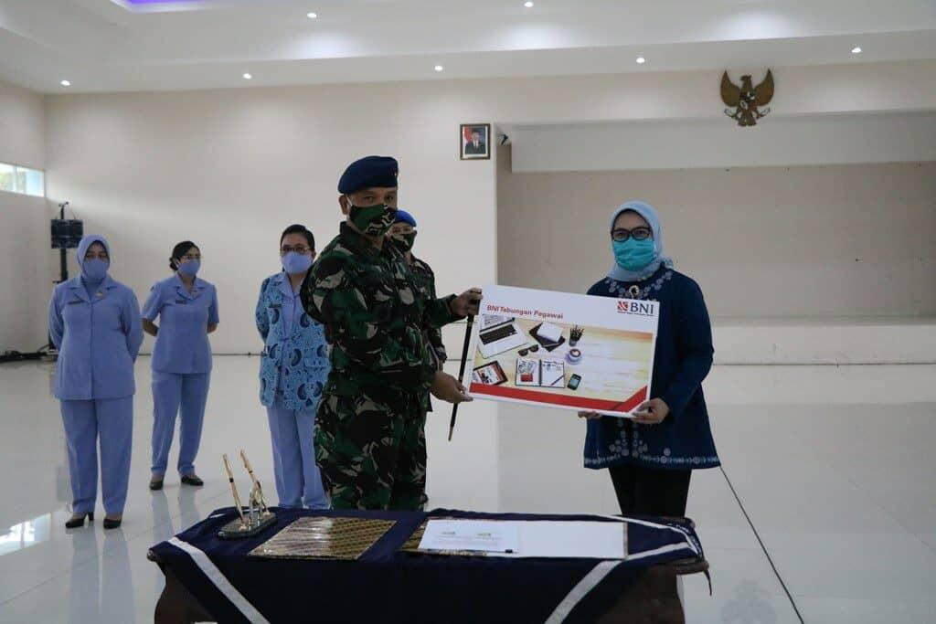 Paket Sembako Murah PT BNI tbk Cab Brawijaya Bagi Personel Lanud Abd Saleh
