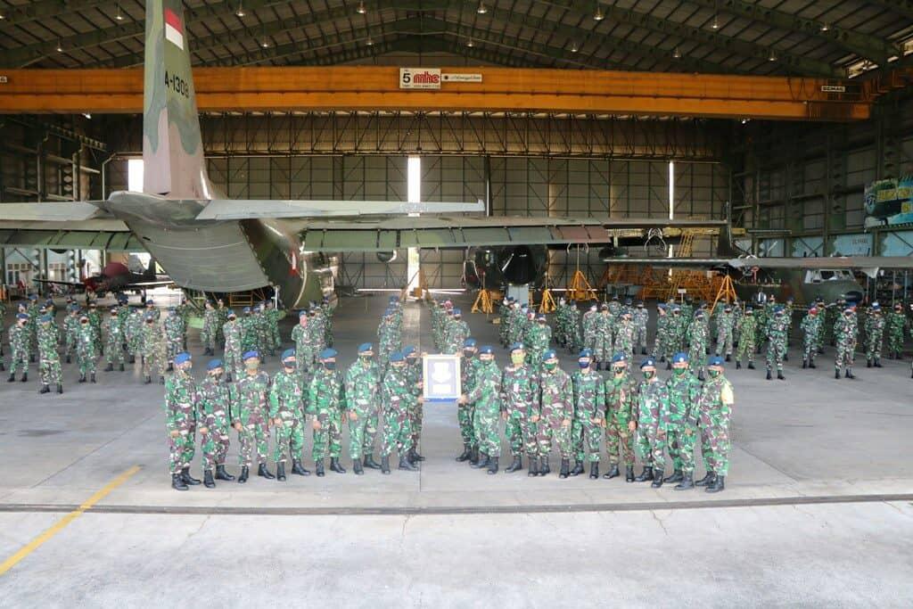 Danskatek 022 Lanud Abd Saleh Terima Plakat Juara Pertama Antar Satuan TNI AU Bidang Lambangja Tahun 2020 Tingkat Skatek