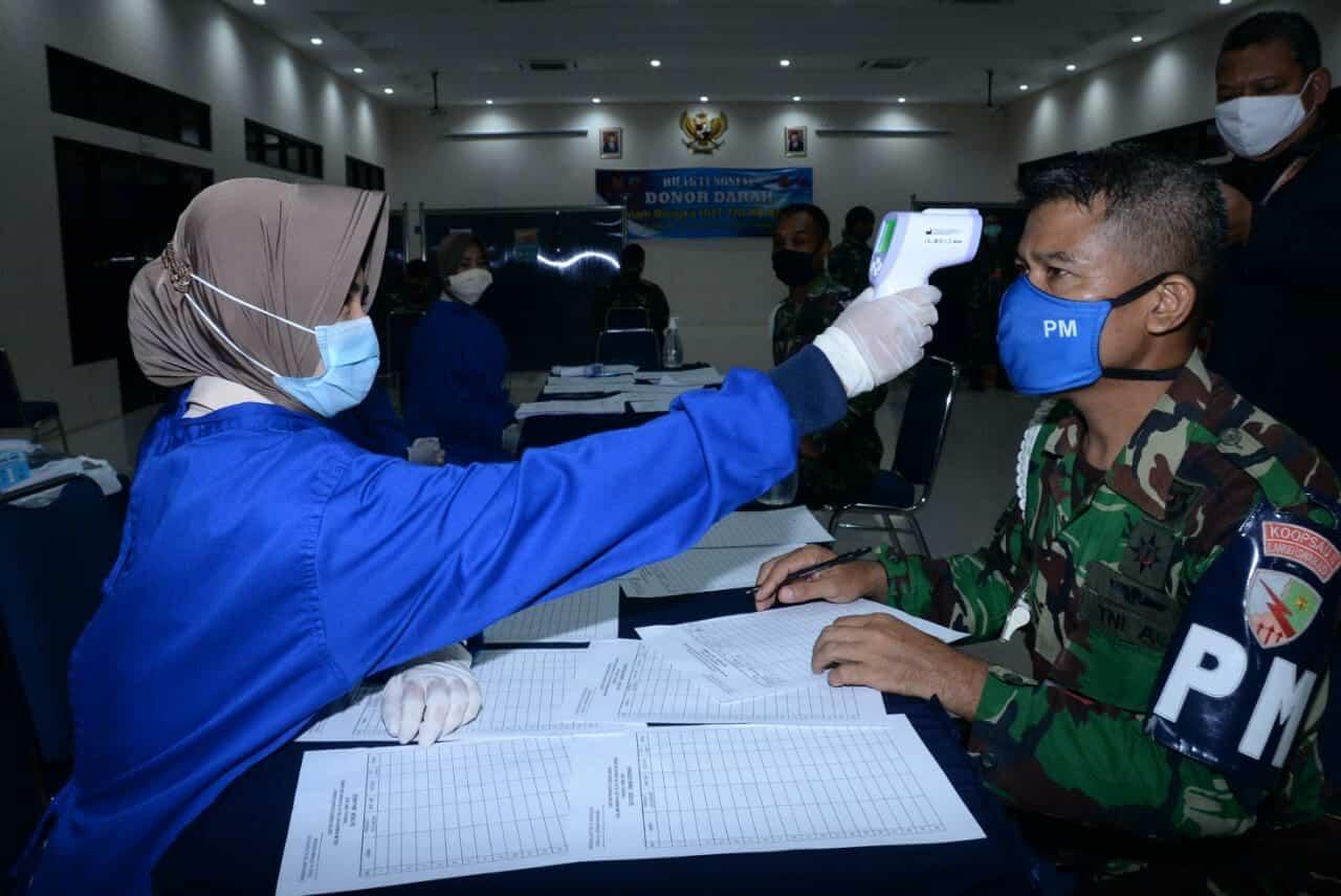Lanud Iswahjudi dan Insub Adakan Donor Darah Bantu Persediaan PMI Magetan
