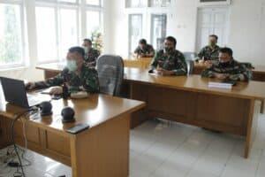 Danlanud Sri Mengikuti Rapat Virtual Dengan Danlanud Jajaran Koopsau II Dipimpin Asops Kaskoopsau II
