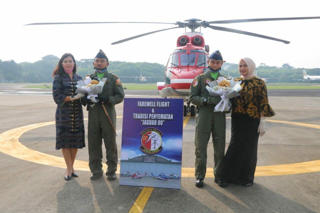 Skadron Udara 45 Lanud Halim Perdanakusuma Laksanakan Tradisi Farewell Flight
