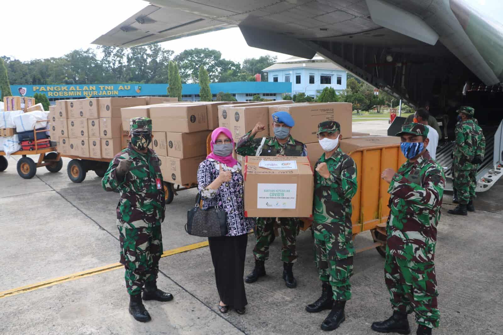Pesawat TNI AU Kembali Angkut APD ke Riau