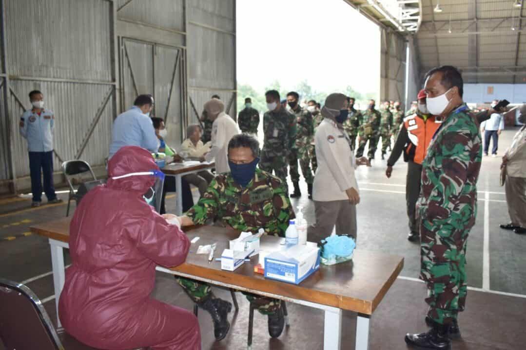 Rapid Test dilaksanakan oleh personel Lanud Adisutjipto untuk deteksi dini Covid 19