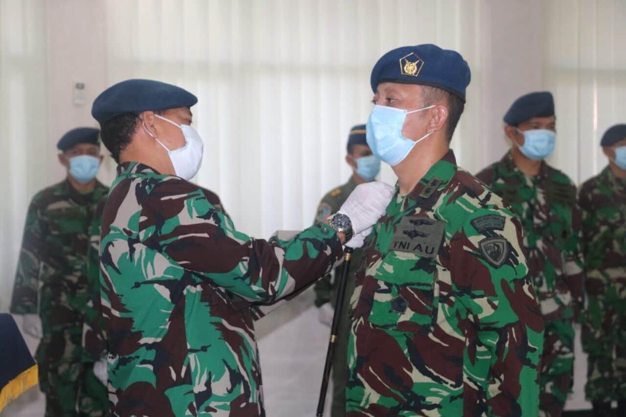 Danlanud Ats Pimpin Upacara Sertijab Komandan Skadron Teknik 024