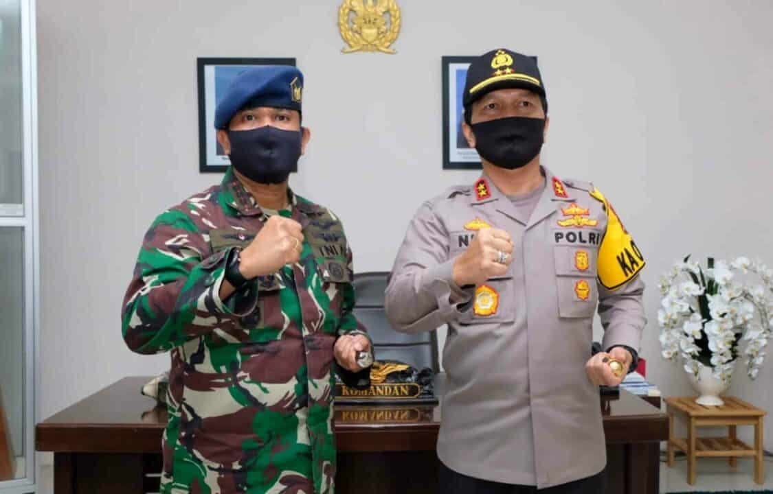 Jalin Sinergitas Komandan Lanud Sjamsudin Noor Terima Kunjungan Silaturahmi Kapolda Kalimantan Selatan