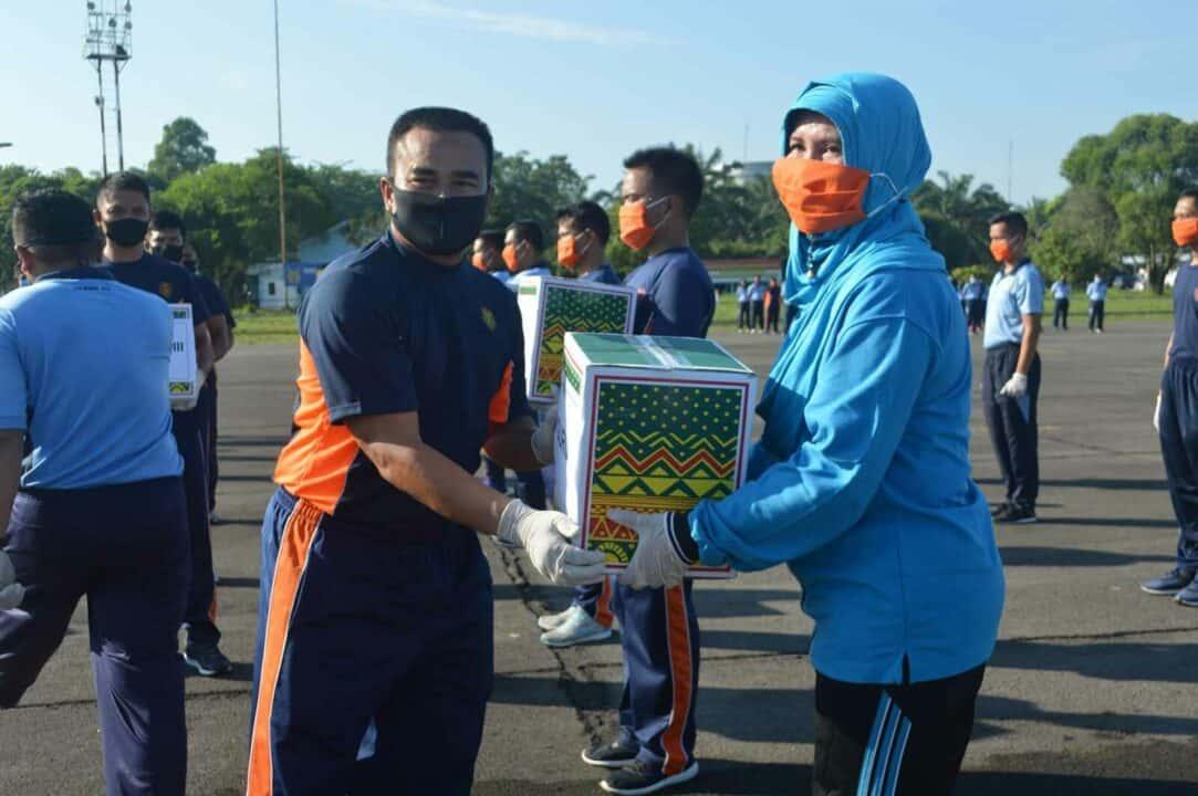 Wing III Paskhas dan Jajaran ikuti apel dan olahraga gabungan di Lanud Soewondo