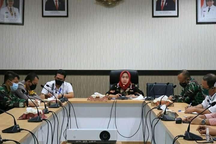 Komandan Lanud Jenderal Besar Soedirman Hadiri Rapat Koordinasi terkait Pandemi Covid-19 di Kabupaten Purbalingga