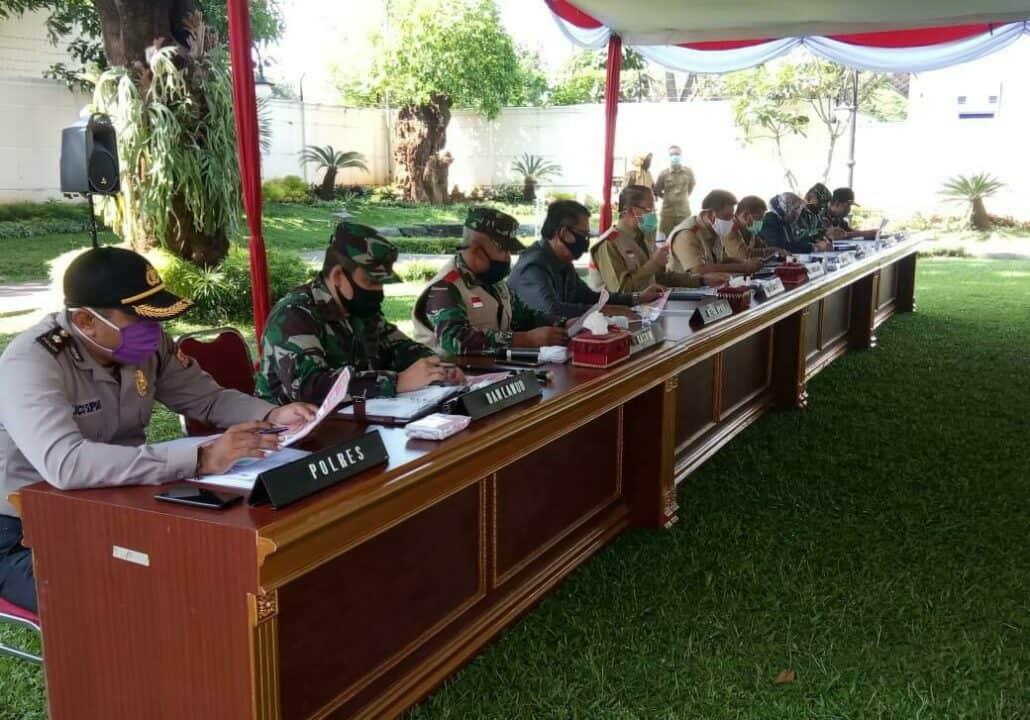 Komandan Lanud Sugiri Sukani Hadiri Rakor Persiapan Penetapan PSBB Majalengka