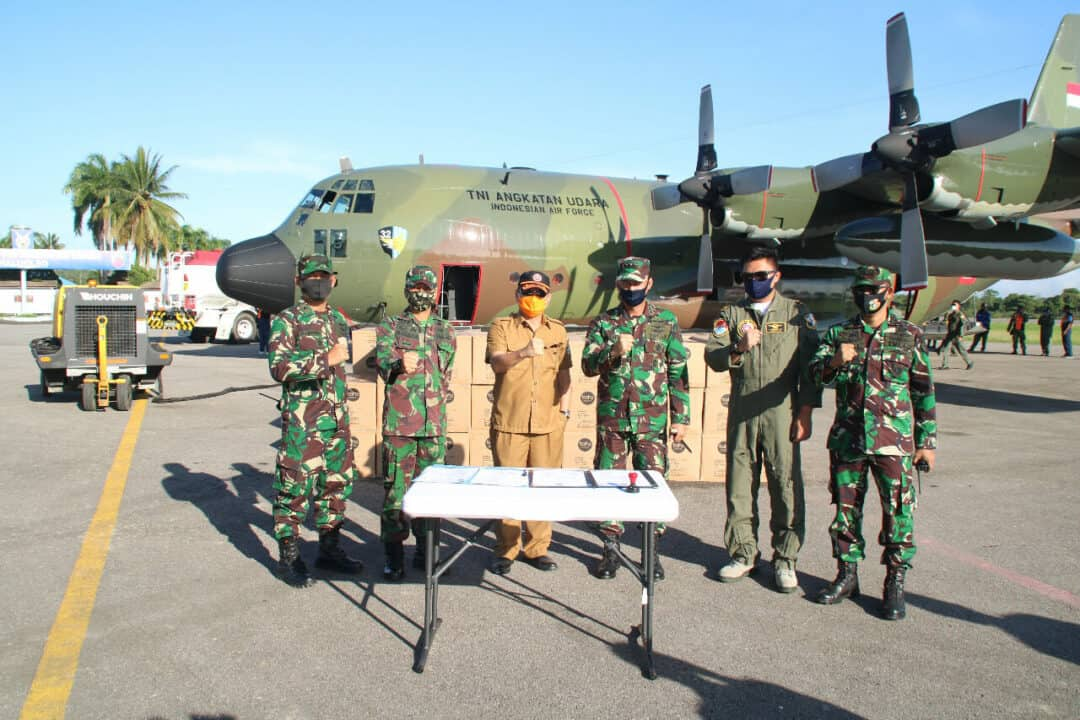 3.250 APD Kembali tiba di Lanud HLO