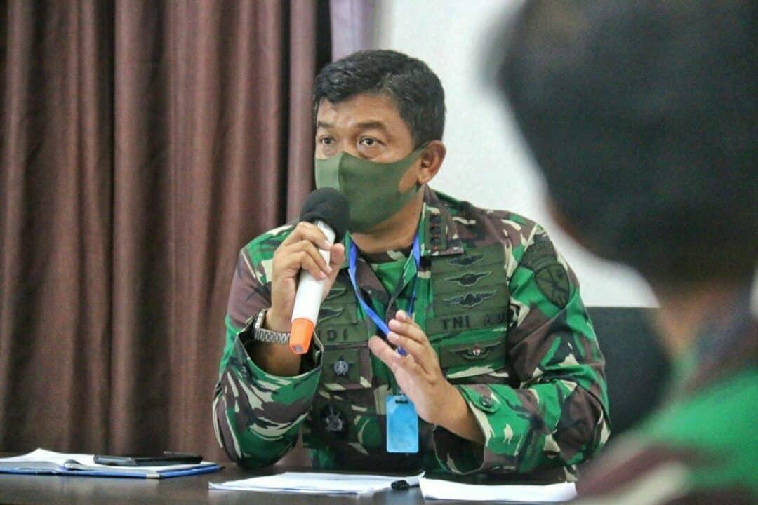 Danlanud RHF Pimpin Rapat Koordinasi Teknis Posko Pengendalian dan Percepatan Penanangan Covid-19