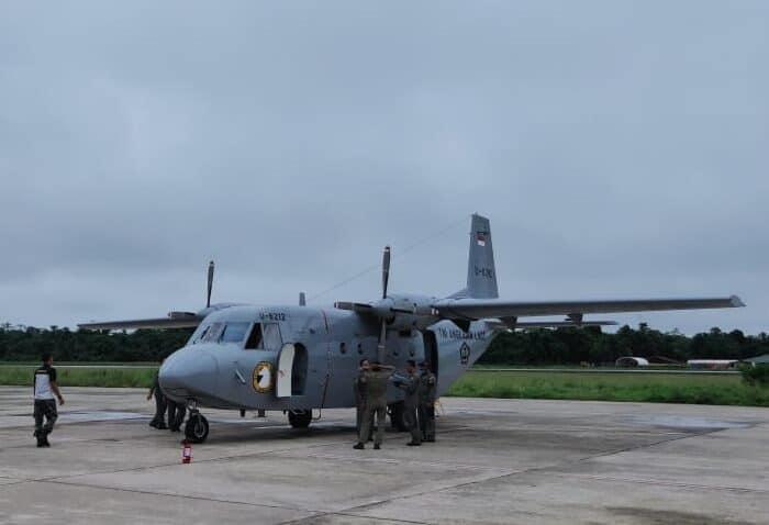 Pesawat TNI Di Siagakan Membantu Percepatan Pemulihan Covid-19 Di Kabupaten Mimika
