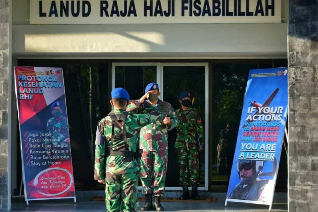 Danlanud RHF Pimpin Apel Khusus Halal Bihalal Idul Fitri 1441 H/2020 M