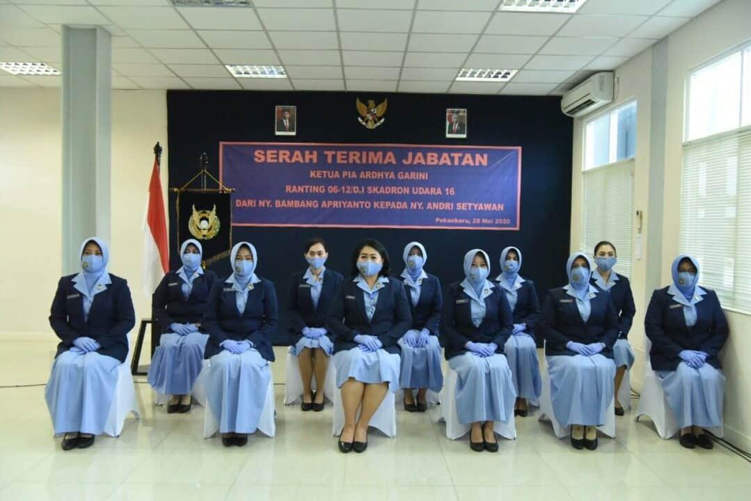 Jabatan Ketua Pia Ardhya Garini Ranting 06-12/D.I Skadron Udara 16 Diserah Terimakan