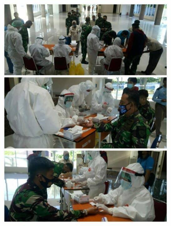 Rapid Test Covid-19 bagi Personel Lanud Sultan Hasanuddin