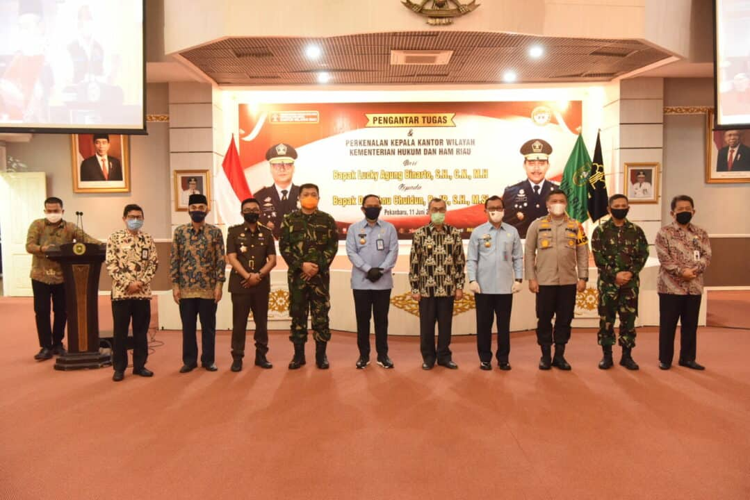 Danlanud Rsn Hadiri Pengantar Tugas Kepala Kantor Kemenhumham Riau