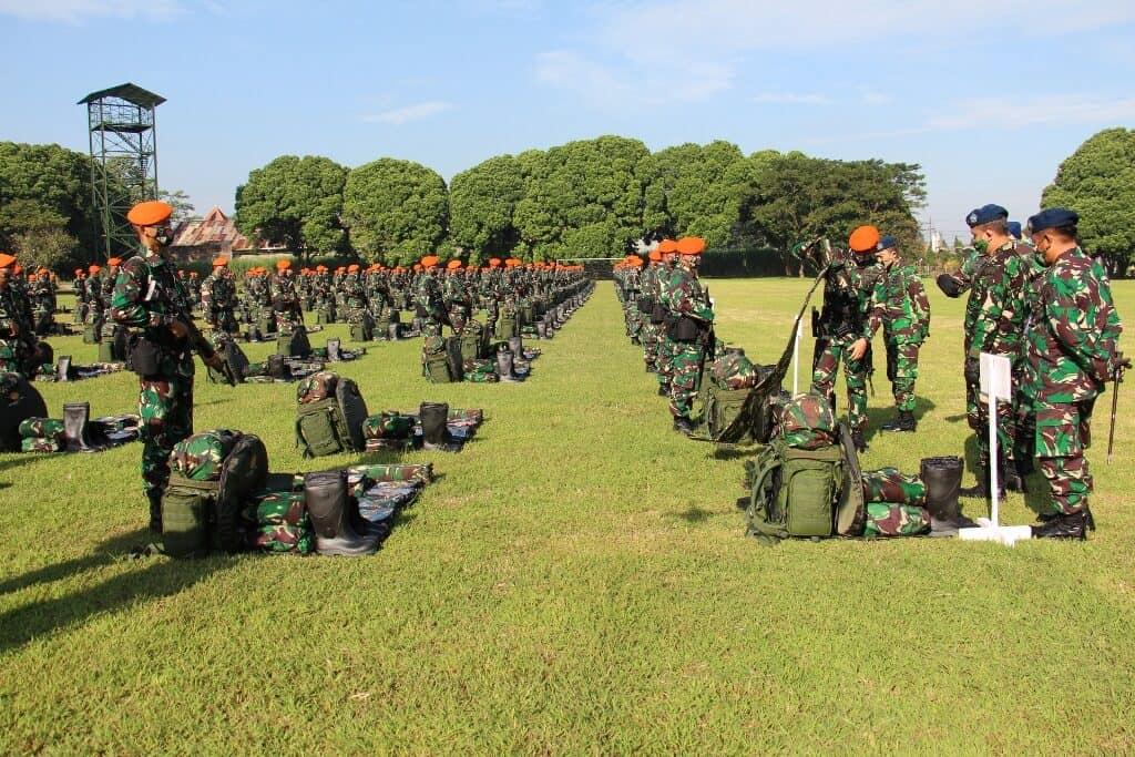 Danlanud Abd Wakili Asops Kasau Periksa Kesiapan Yonko 464 Paskhas Dalam Satgas Pamrahwan