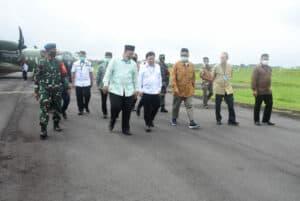 Danlanud Wiriadinata Menyambut Kedatangan Menteri PPN / Kepala Bappenas