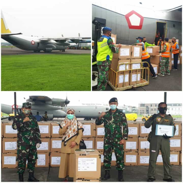 Pasca Lebaran, Lanud Soewondo kembali Distribusikan 6000 APD Tahap ke 9