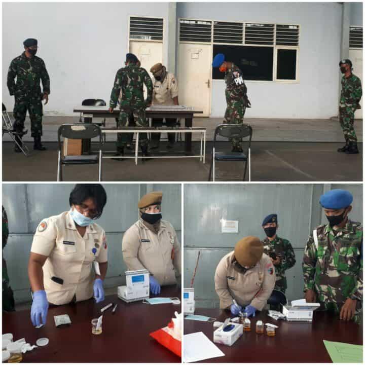 Personel Lanud Soewondo Laksanakan Tes Narkoba Dadakan