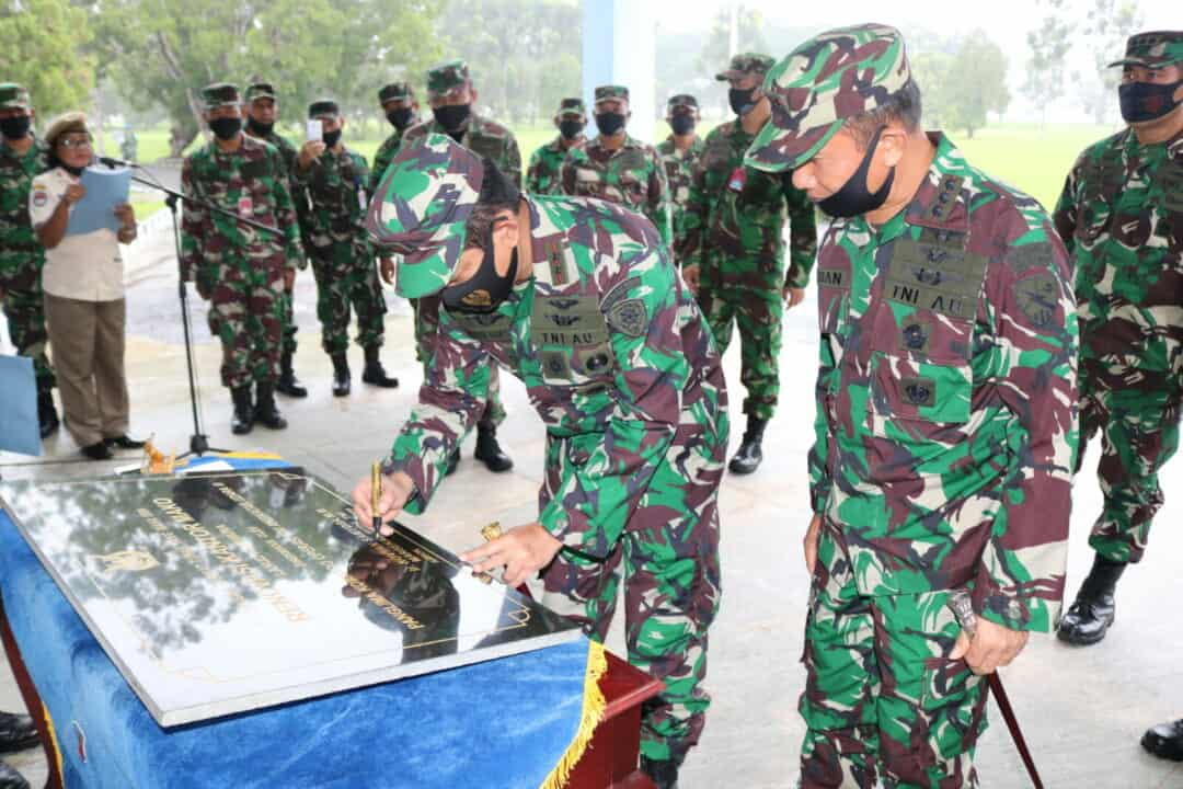 Pangkoopsau III Resmikan Mako Lanud Pattimura Pasca Renovasi