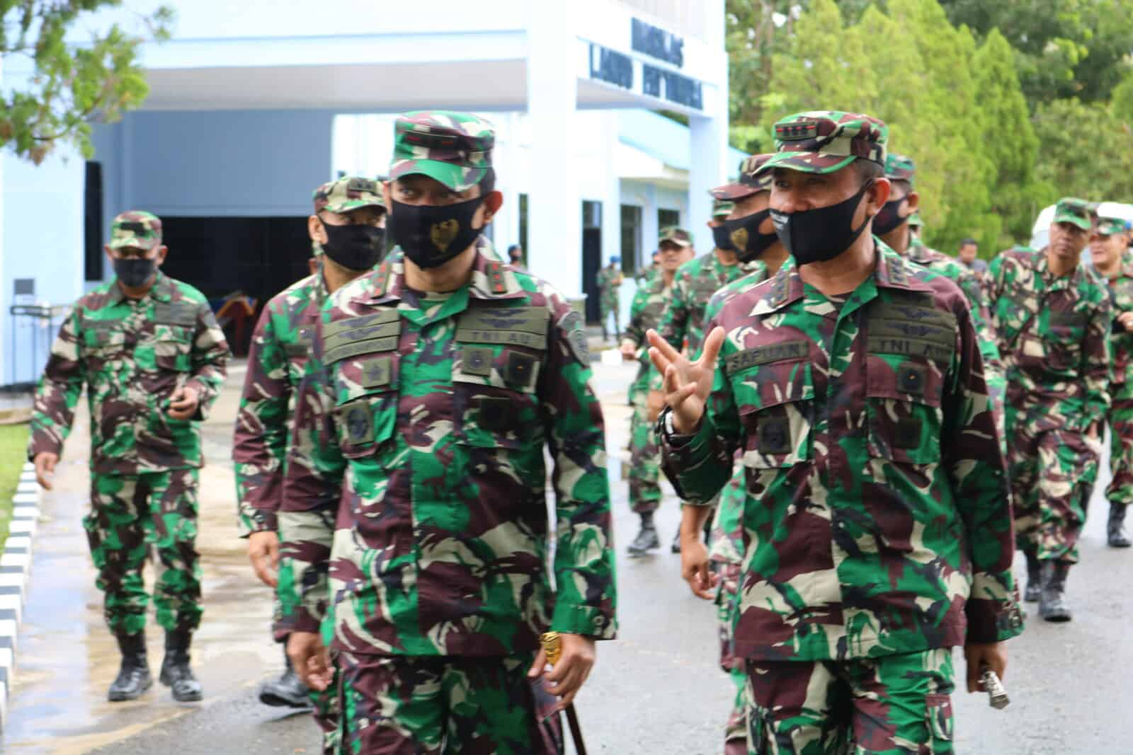 Awali Kuker-nya Di Lanud Pattimura, Pangkoopsau III Tatap Muka Dengan Seluruh Prajurit